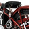 détail miniature de moto Triumph Speed Twin 1939 rouge Minichamps