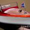 détail maquette de bateau, voilier, runabout Chris Craft dual Cockpit 82 cm peint Gia Nhien