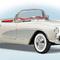 détail miniature de voiture Chevrolet Corvette 1956 The Franklin Mint