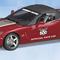 détail miniature de voiture Chevy Corvette Indy 500 pace car 2005 The Franklin Mint
