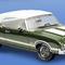 détail miniature de voiture Oldsmobile 4-4-2 conv 1972 The Franklin Mint