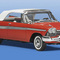 détail miniature de voiture Plymouth Belvedere conv 1958 The Franklin Mint