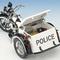 détail miniature de moto Harley Davidson Police servi-car The Franklin Mint
