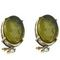 Earrings clips - intaglio Josephine -green tinted 95.00 € vat incl.