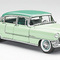 détail miniature de voiture Caddy fleetwood 1955 - 2 tons vert The Franklin Mint