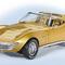 détail miniature de voiture Corvette Coupé 1971 - or The Franklin Mint