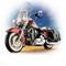 détail miniature de moto Harley Davidson road king The Franklin Mint