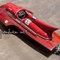 détail maquette de bateau, voilier, runabout Ferrari Hydroplane 1954 bois naturel - 80 cm Gia Nhien