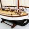 détail maquette de bateau, voilier, runabout Colin Archer  50 cm Gia Nhien
