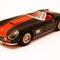 détail miniature de voiture Ferrari 250 GT LWB California Noir bande rouge Ilario