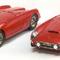 détail miniature de voiture Ferrari 250 GT Spider Compétition Eldé 57 Rouge Ilario
