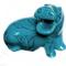 Grand hippopotame bleu 15 cm