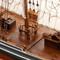 détail maquette de bateau, voilier, runabout Blue Nose II (ciré) - 75cm Premier Ship Models