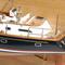 détail maquette de bateau, voilier, runabout Discovery 55 demi-maquette - 51 cm Premier Ship Models