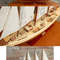 ship, sailboat, runabout model Atlantic plain wood finish - 80 cm Old Modern Handicraft