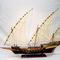 détail maquette de bateau, voilier, runabout Chebec - 80 cm Old Modern Handicrafts