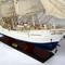 détail maquette de bateau, voilier, runabout Christian Radich peint - 94 cm Old Modern Handicrafts