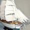 détail maquette de bateau, voilier, runabout Denmark - 82 cm Old Modern Handicrafts
