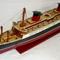 détail maquette de bateau, voilier, runabout France peint - 80 cm Old Modern Handicrafts