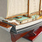détail maquette de bateau, voilier, runabout Fulton peint - 80 cm Old Modern Handicrafts