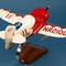 détail maquette d'avion Granville Gee Bee R2 Model - Racer - 43 cm Pilot's Station