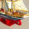 détail maquette de bateau, voilier, runabout Georg Stage peint - 82 cm Old Modern Handicrafts