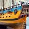 détail maquette de bateau, voilier, runabout HMS Endeavour peint - (coque 80  cm) Old Modern Handicrafts