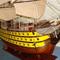 détail maquette de bateau, voilier, runabout HMS Victory peint - 120 cm Old Modern Handicrafts