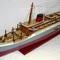 détail maquette de bateau, voilier, runabout Lenanic peint  - 80 cm Old Modern Handicrafts