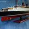 détail maquette de bateau, voilier, runabout Queen Mary - 80 cm Old Modern Handicrafts