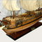 détail maquette de bateau, voilier, runabout Royal Caroline - (coque 80 cm) Old Modern Handicrafts