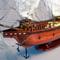 détail maquette de bateau, voilier, runabout San Miguel Archangel - (coque 80 cm) Old Modern Handicrafts
