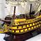 détail maquette de bateau, voilier, runabout Soleil Royal peint - (coque 60 cm) Old Modern Handicrafts