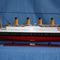 détail maquette de bateau, voilier, runabout Titanic peint - 100 cm Old Modern Handicrafts