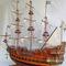 détail maquette de bateau, voilier, runabout Wasa - (coque 80 cm) Old Modern Handicrafts
