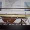 détail tableau 3d Chantier naval 1/2 coque +travailleurs Patrick Richard