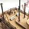 détail bateau à assembler Le Mississippi - Kit Artesania Latina
