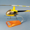maquette d'helicoptère Robinson R-22 Alpha Civil- 34 cm Pilots' Station