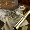 details astrolabe, compass, sextant Sextant in Case Authentic Models -AM-