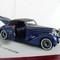 details miniature car Bugatti T57 Aravis 1938 Cabrio  D'Ieteren 57589 Metal Blue  Open door and rear trunk Ilario