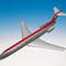 maquette d'avion commercial triréacteur Boeing 727-200 Northwest