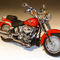miniature de moto Harley Davidson H-D FLSTF Fat Boy Scarlet Red 81149 Highway 61 95.00 € ttc