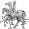 Paire de chevaux 1er rang canon 239.80 € ttc
