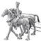 Paire de chevaux 2eme rang canon 239.80 € ttc
