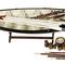 détail maquette de bateau, voilier, runabout Baleinière - 94 cm Authentic Models -AM-