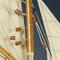 détail maquette de bateau, voilier, runabout Columbia J noir - 170 cm Authentic Models -AM-