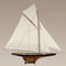 maquette de bateau, voilier, runabout Columbia J noir - 170 cm Authentic Models