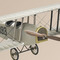 détail maquette d'avion Curtiss Jenny argent - 80 cm Authentic Models -AM-