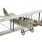 aircraft display model fighter biplane Curtiss Jenny silver Authentic Models -AM-
