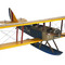 aircraft display model fighter biplane Curtiss Jenny JN-7H Float Plane, Large Authentic Models -AM-